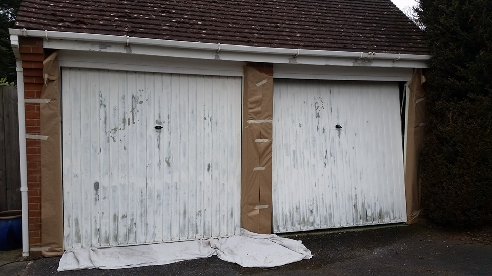 Garages before painting